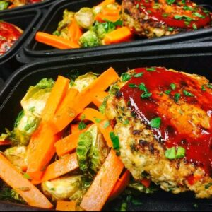 Chicken Meatloaf with mixed veggies